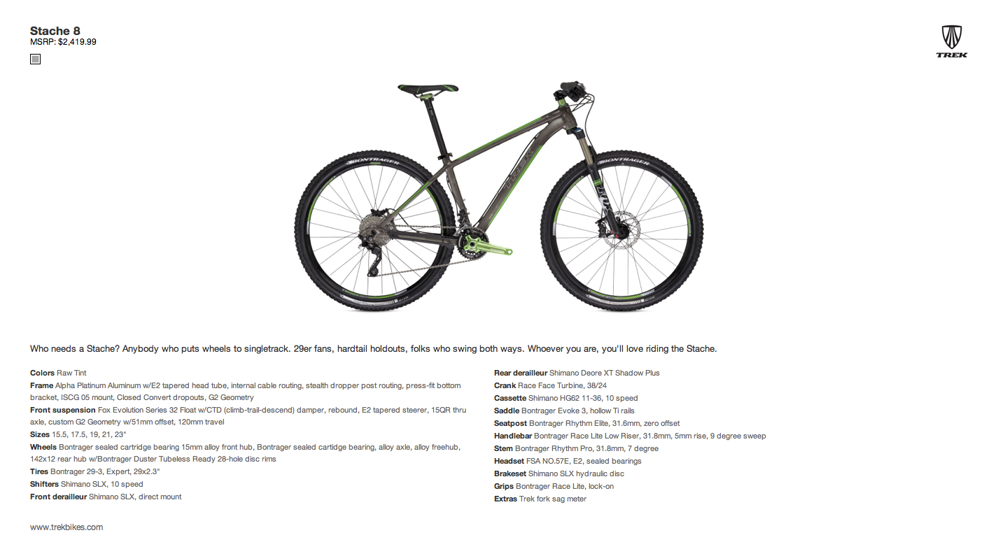 Out Of The Box: Trek/Fisher Stache 8