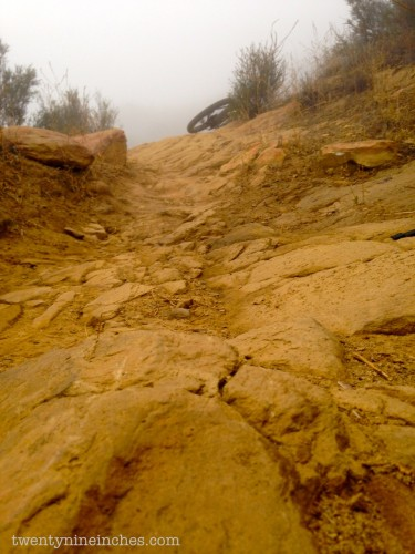 Rock sections like this were easily assailable uphill and even better downhill.